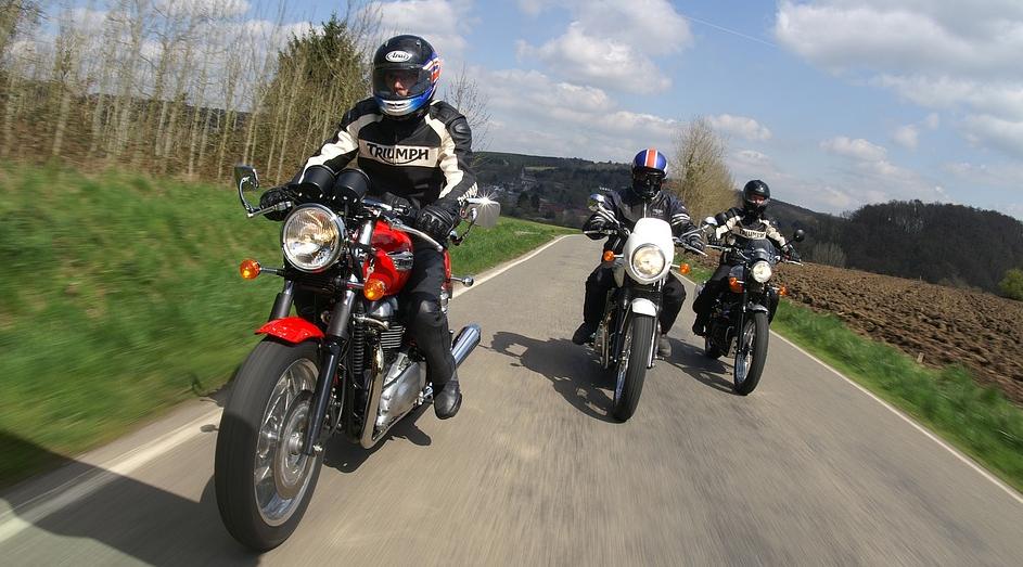 Motorradausflug mit Freunden